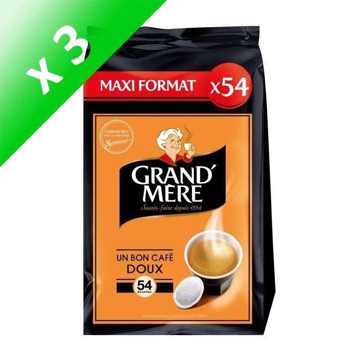Lot de 3 - Grand- Mère Doux café en dosettes x54 - 356 g