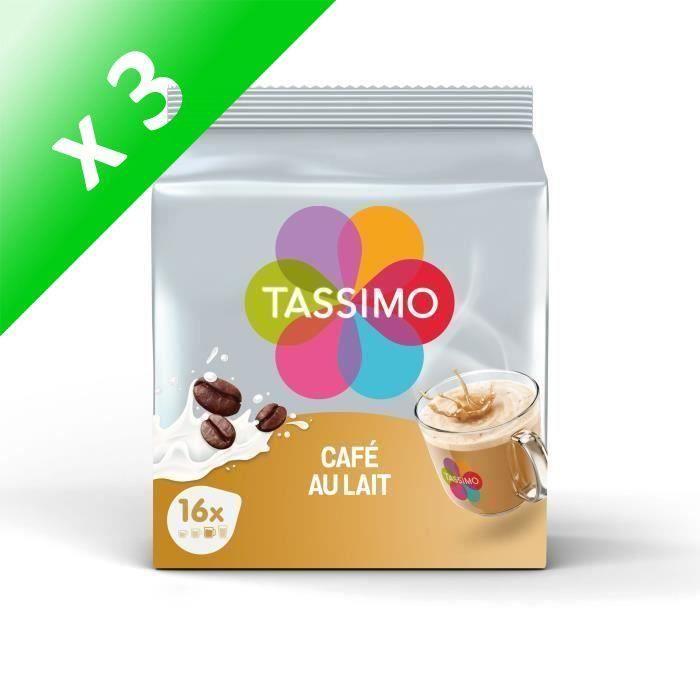 Lot de 3 - Tassimo Café au Lait en Dosettes x 16 - 184 g