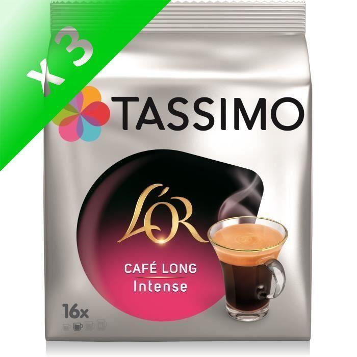 Lot de 3 - Tassimo L'Or Café Long Intense Café en Dosettes x16 - 104 g