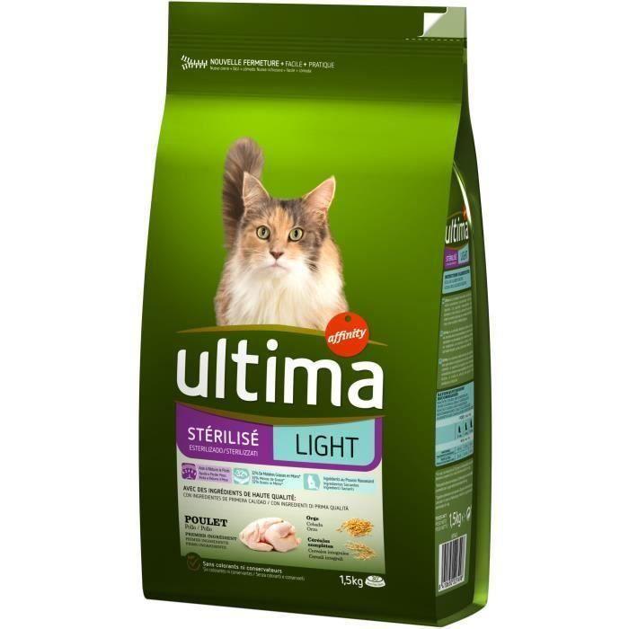 ULTIMA Croquettes Sterilise Light - Pour chien - 3 x 1,5 kg
