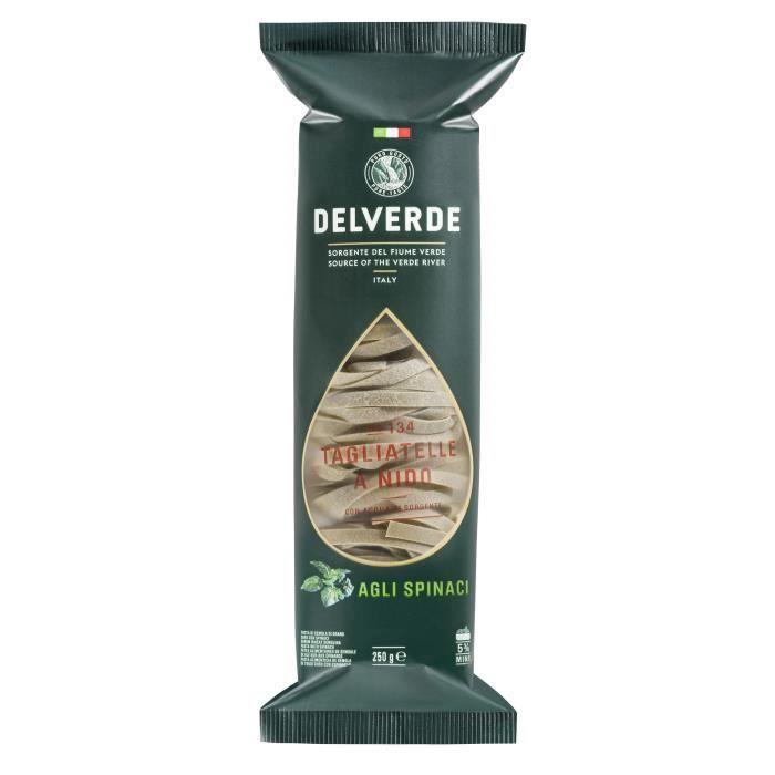 DELVERDE Tagliatelle aux épinards (2%) à la semoule de blé dur - 250 g