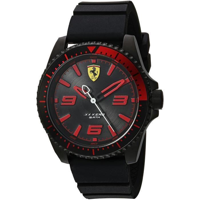 FERRARI Xx Kers et de quartz en acier inoxydable montre de silicone Casual, Couleur: noir (modèle: 0830465) FF788