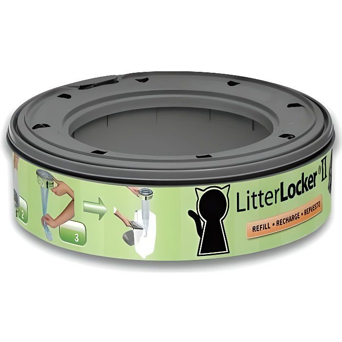 LITTER LOCKER II Recharge pour poubelle de litière - Chat