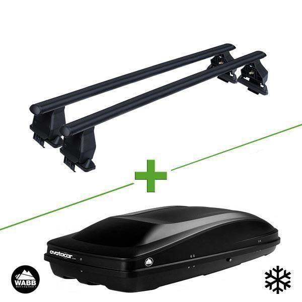 Pack barres et coffre de toit MBO Tema acier + Wabb L pour Land rover Range Rover Evoque 5 portes - 3665597895100