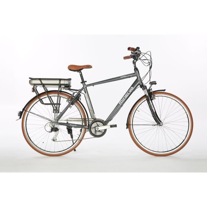 Vélo Alivio - Assistance électrique - Roues 28- - MINERVA - Homme - Gris