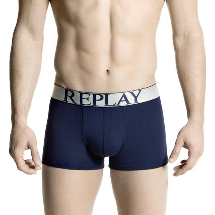 REPLAY Boxer Homme Coton INSC Marine