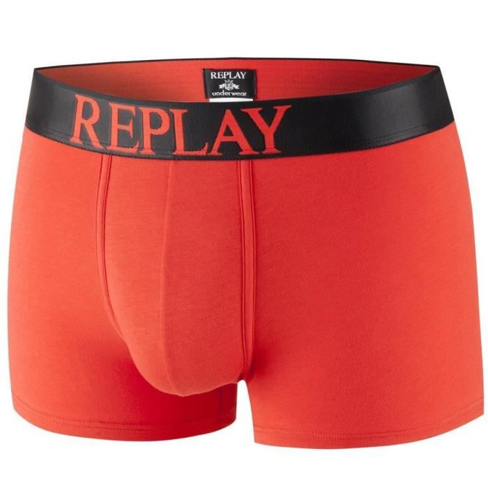 REPLAY Boxer Homme Coton INSCN Rouge