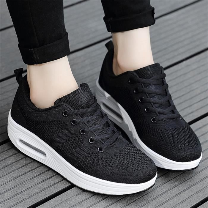 chaussure de securite Femmes Plateforme Shake Chaussures Mesh Casual Chaussures Sneakers Air Cushion Shoes LJX90615123BK40_baet