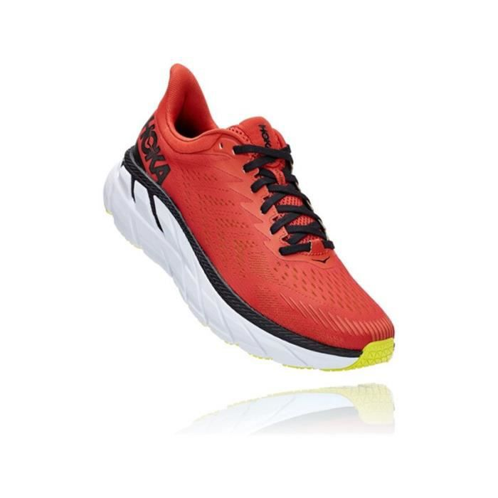 Basket running Hoka clifton 7 homme rouge