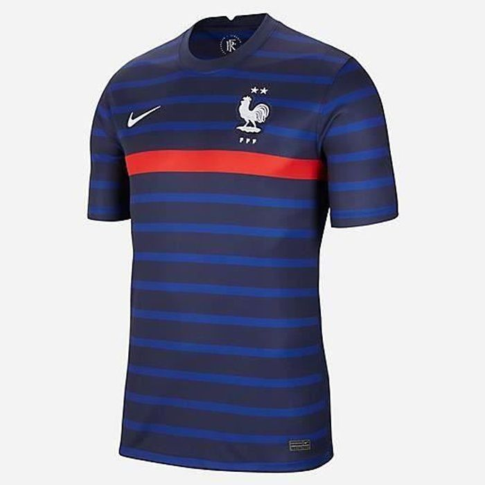 Maillot France Fff De Football Euro 2021 Bleu Domicile