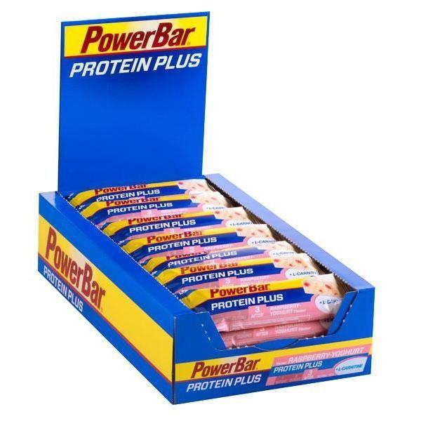 Powerbar Protein Plus L-carnitina Box 30u Raspb…