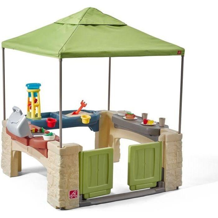 STEP2 Tente de jeux - Barbecue - Bac à sable / Eau