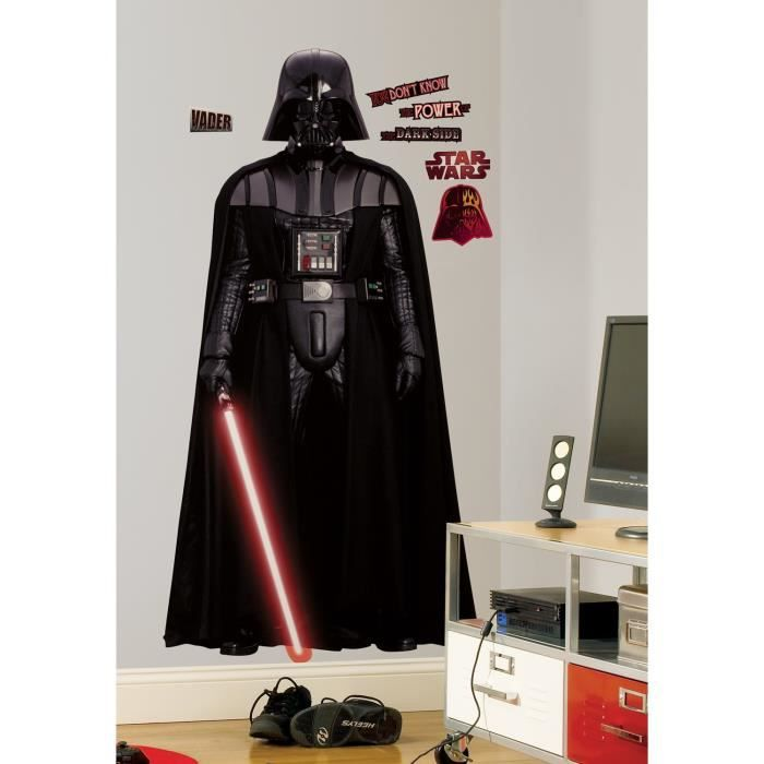 STAR WARS Stickers Muraux Enfant Géant Dark Vador 178cm