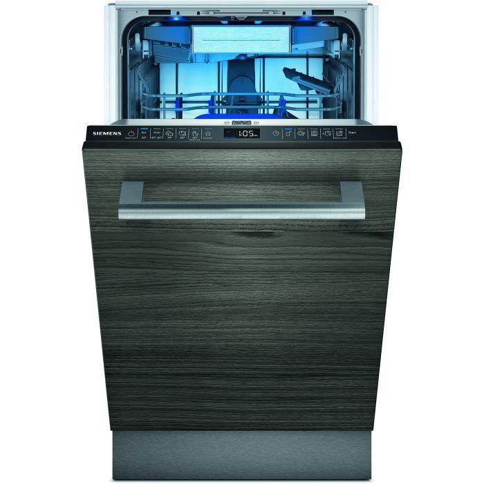 siemens - lave-vaisselle 45cm 10c 43db a+++ tout intégrable - sr65zx23me
