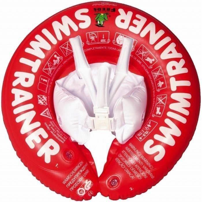 Freds Swim Academy Bouée bébé Swimtrainer Rouge 3 mois à 4 ans