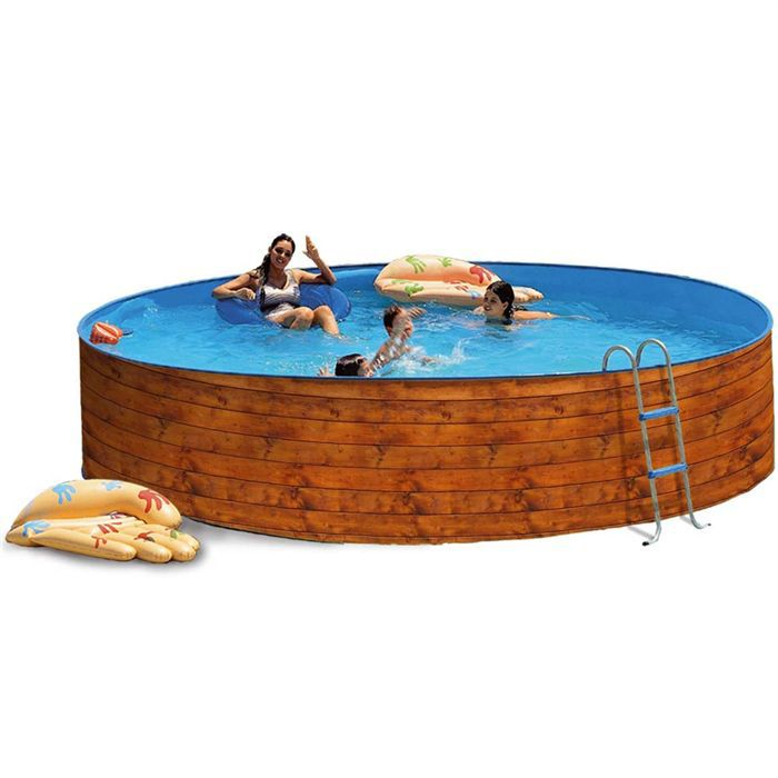 Piscine complete torrente industrie for Piscine acier grise