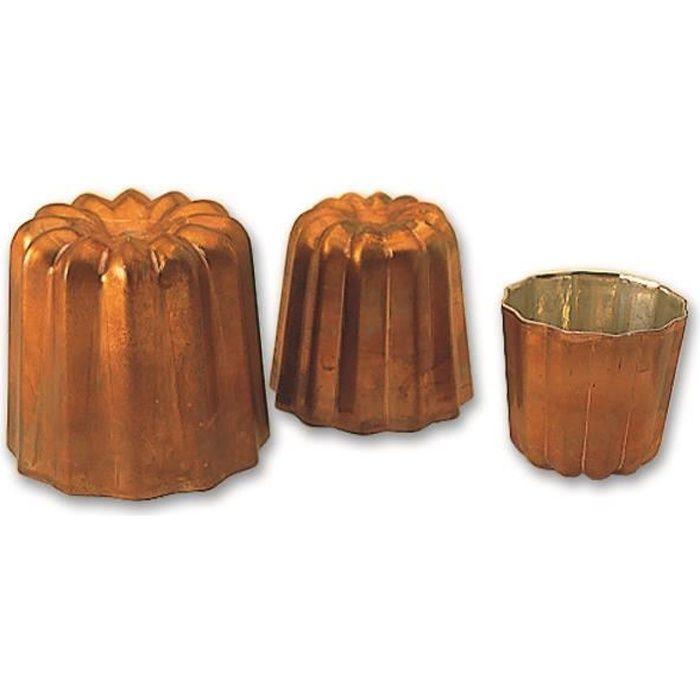 Moule cannelé cuivre professionnel à 45 mm de d...