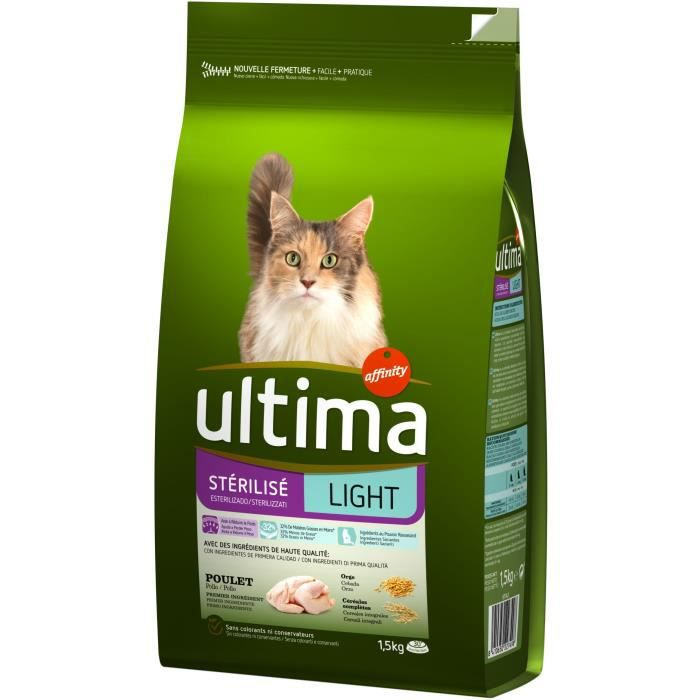 ULTIMA STERILISE LIGHT - Croquettes pour chat - 1.5KG