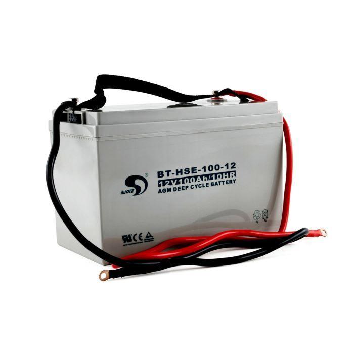 BATTERIE DOMOTIQUE Batterie 12V AGM  100 Ah étanche et sans entretien