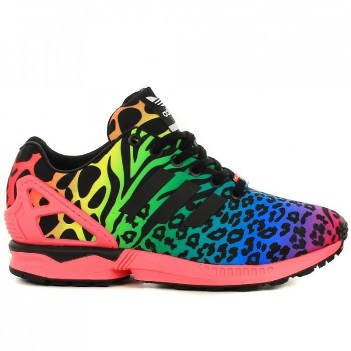 adidas zx flux femme leopard