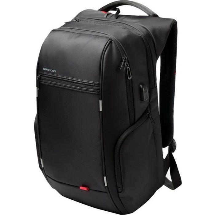 """SAC À DOS INFORMATIQUE Kingsons 15.6"""" luxe Notebook sac à dos noir voyage"""
