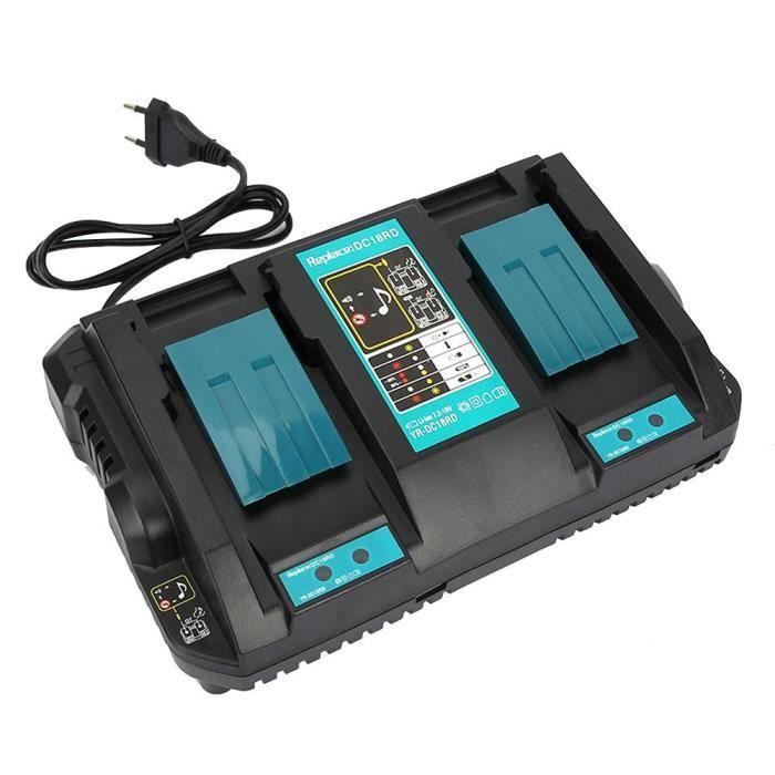 Chargeur de Batterie Lithium 14.4-18V DC18RD pour MAKITA BL1830 1850