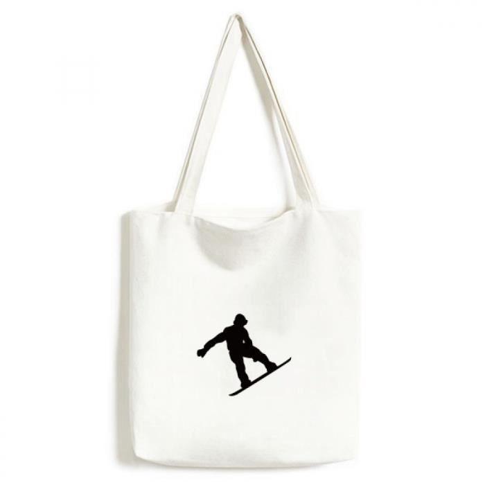 SAC À MAIN silhouette noire saute à sport sac en toile de gra