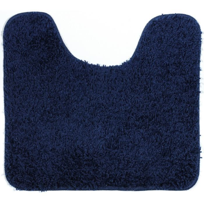 tapis de bain shaggy contour wc bleu achat vente tapis de bain cdiscount. Black Bedroom Furniture Sets. Home Design Ideas