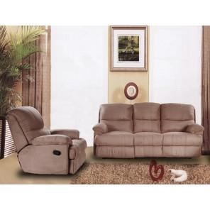 ensemble 1 canap 3 places relax 1 fauteuil relax taupe
