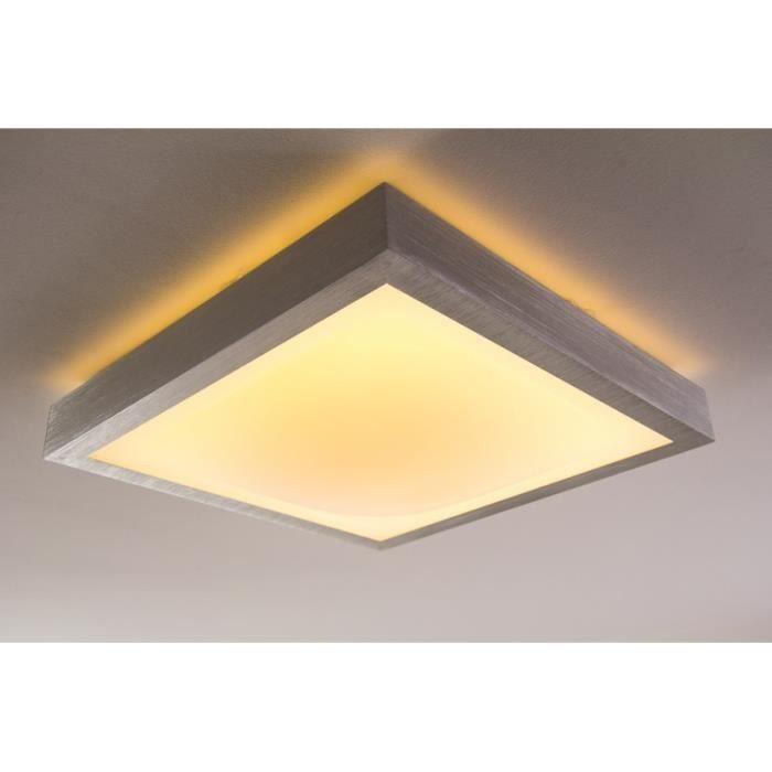 Plafonnier salle de bain lampe LED carré IP44 18W
