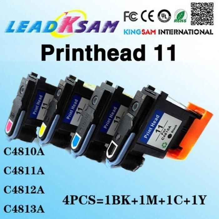 CARTOUCHE IMPRIMANTE 4 Pcs Tête D'Impression Compatible Pour Hp 11 C481