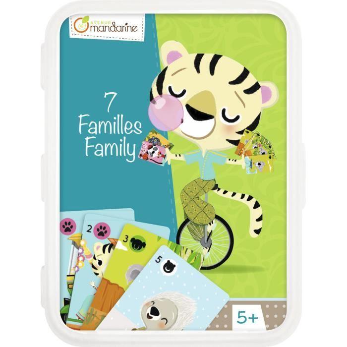 CARTES DE JEU Cartes 7 Familles Animaux Disparition