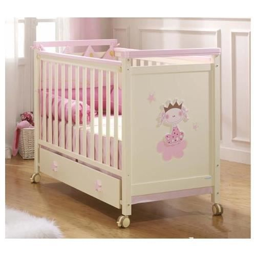 lit en bois micuna petite princesse marfil rosa achat. Black Bedroom Furniture Sets. Home Design Ideas