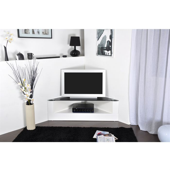 meuble tv d 39 angle brooklyn achat vente meuble tv meuble tv d 39 angle brooklyn soldes d. Black Bedroom Furniture Sets. Home Design Ideas