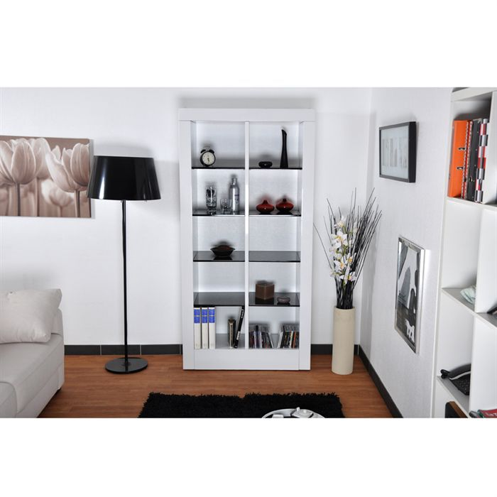 brooklyn tag re blanche laqu e achat vente meuble. Black Bedroom Furniture Sets. Home Design Ideas