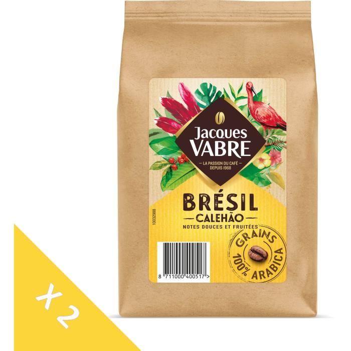 CAFÉ JACQUES VABRE Café gains Brés (Lot de 2)