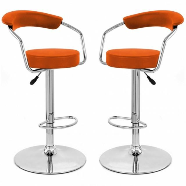tabouret de bar orange x 2 retro coiffeur achat vente. Black Bedroom Furniture Sets. Home Design Ideas