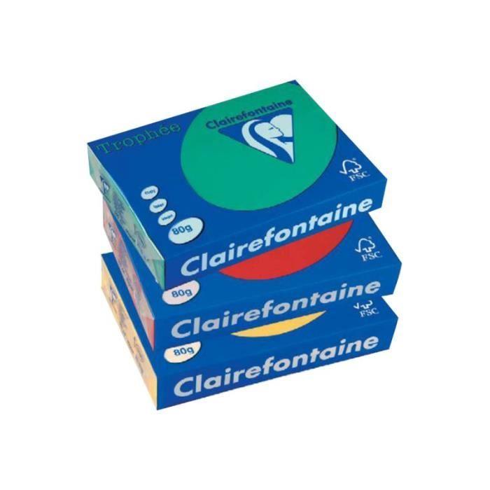 PAPIER IMPRIMANTE Clairefontaine TROPHEE Vert pâle A4 (210 x 297 mm)