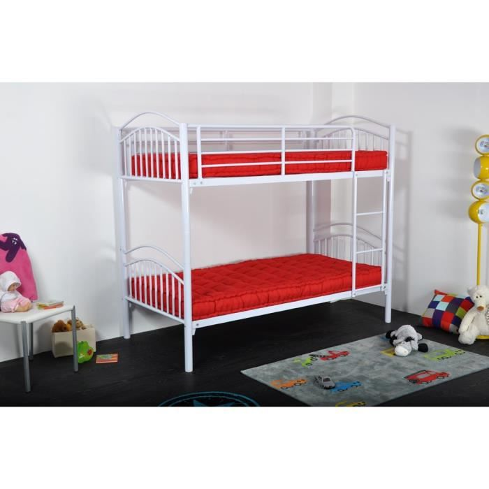 twins lits superposables enfant blanc 90 x 190 cm achat. Black Bedroom Furniture Sets. Home Design Ideas