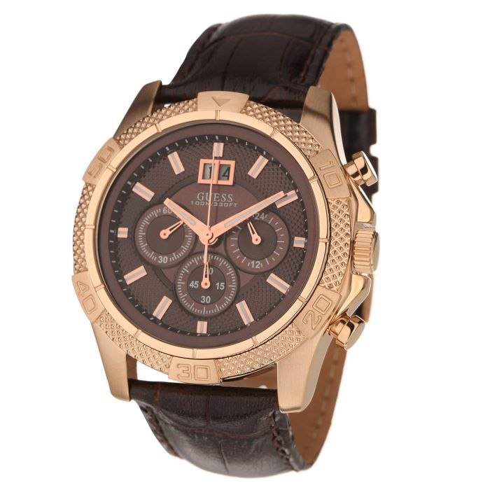 guess montre w19531g2 homme rose marron achat vente. Black Bedroom Furniture Sets. Home Design Ideas