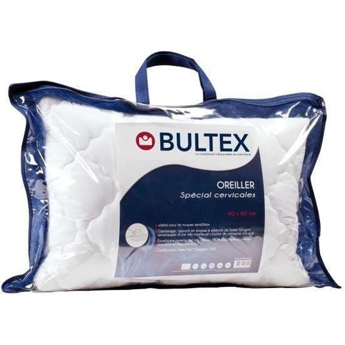 """OREILLER BULTEX Oreiller """"Spécial Cervicales"""" déhoussable 6"""
