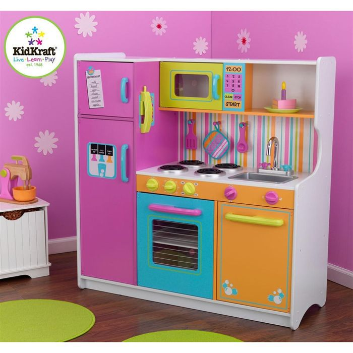 cuisine enfant deluxe big and bright kidkraft achat. Black Bedroom Furniture Sets. Home Design Ideas