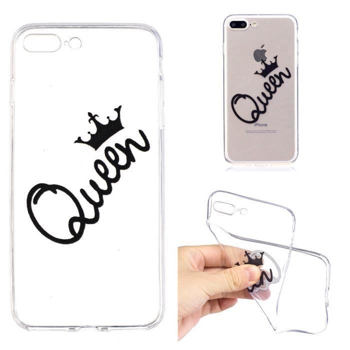 coque iphone 8 plus iphone 7 plus queen souple tra
