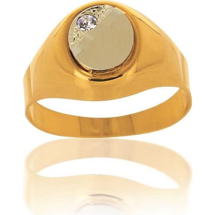 bague or jaune 750 pas cher