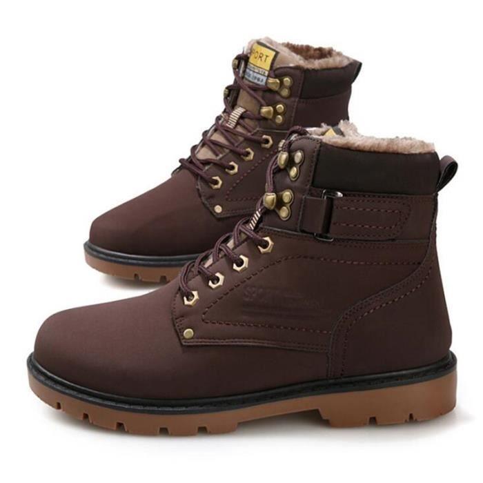 Peluche Hiver Meilleure Neige Bottes De Plein Mode Velours Martin Chaussures Bottes Air Cuir Confortable Homme Bottine Qualité YIeEWb2DH9