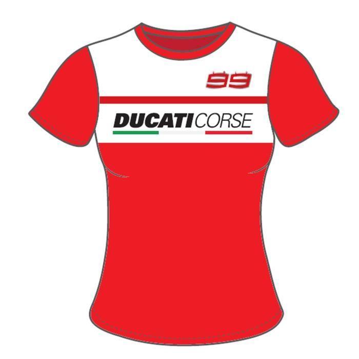 XL Rouge Ducati Corse Polo Racing Officiel MotoGP