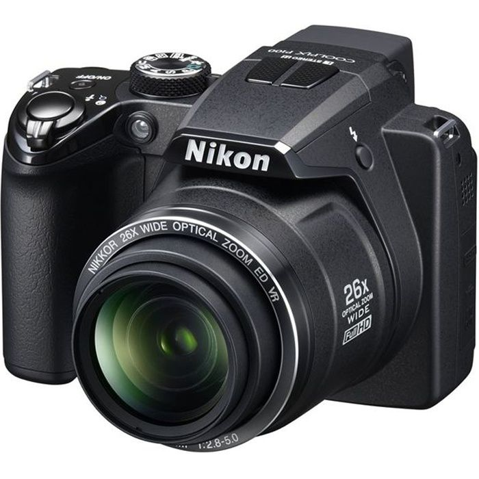 nikon coolpix p100 noir achat vente appareil photo. Black Bedroom Furniture Sets. Home Design Ideas