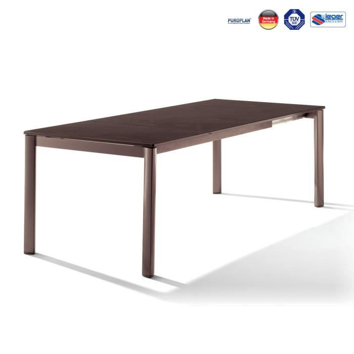 Table Extensible Puroplan Marron Mocca 165 225 285x95cm