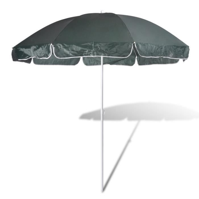240cm parasol de plage vert achat vente parasol. Black Bedroom Furniture Sets. Home Design Ideas