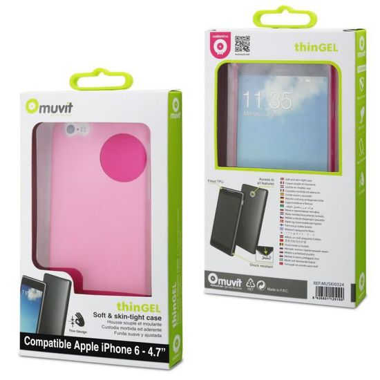 Muvit coque Thingel pour Apple iPhone 6/6S Rose - Cdiscount Téléphonie